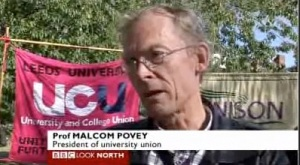 UCU Leeds president Malcolm Povey on BBC Look North