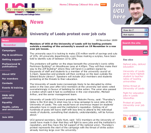 National UCU Leeds campaign