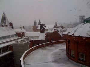 snow at Leeds