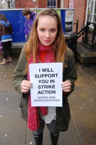 Students support strikes