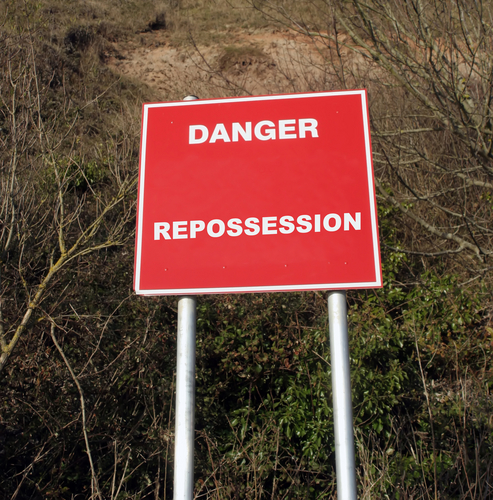repossession sign