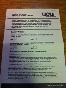University of Leeds ballot