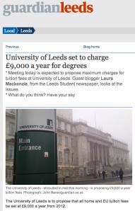 University of Leeds £9k fees