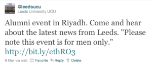 University of Leeds discrimination